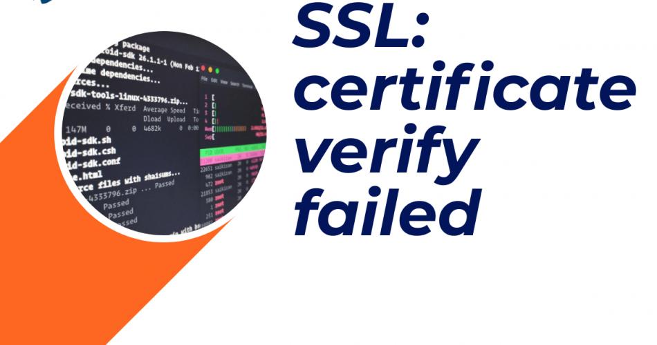 certificate verify failed